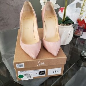 Christian Louboutin Shoes - Pink Velour Pigalle Follies